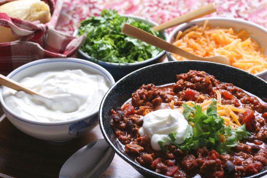 쇠고기와 콩 칠리 조리법